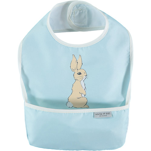 Bunny in Sky Blue Toddler Bib