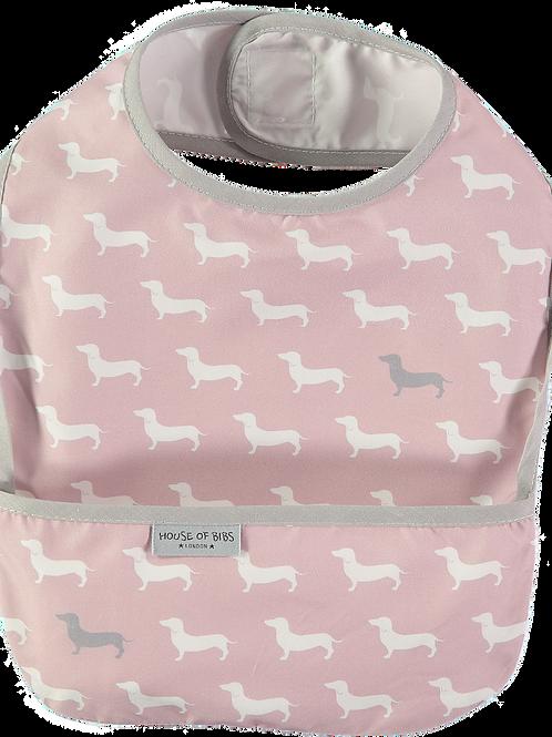 Pink & White Dogs Toddler Bib