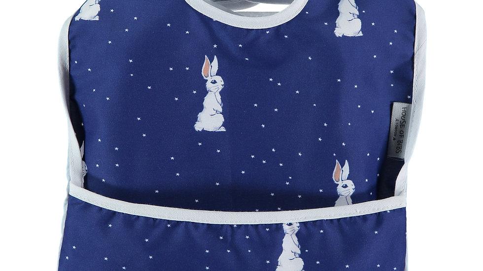 Night Sky Bunny Toddler Bib