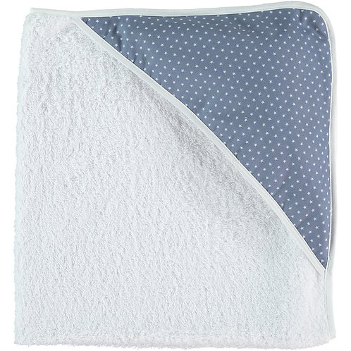 Steel Blue Stars Hooded Towel