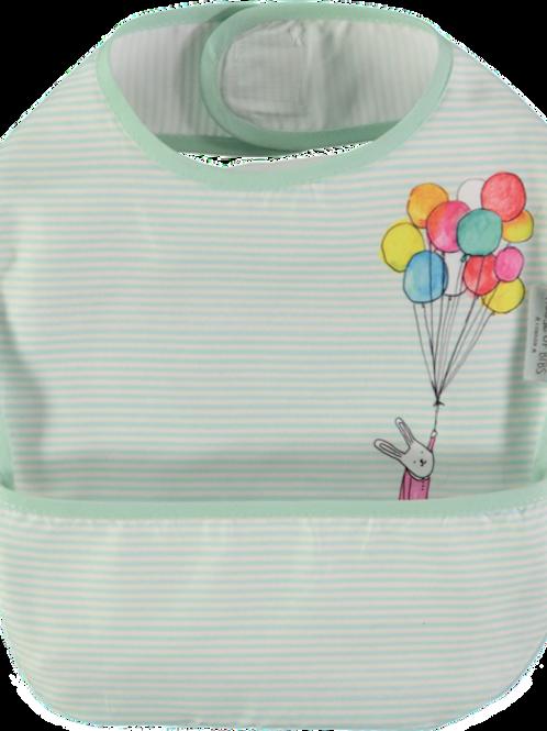 Rabbit with Balloons Toddler Bib