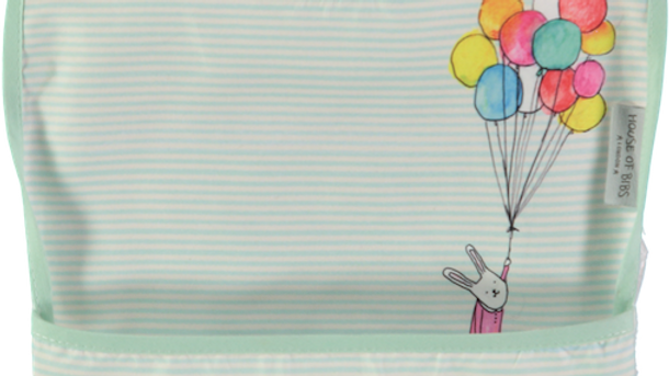 Rabbit with Balloons Toddler Bib