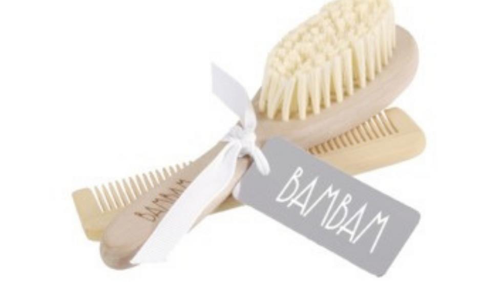 Wood Brush & Comb Set