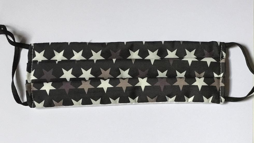 Black Stars Face Mask