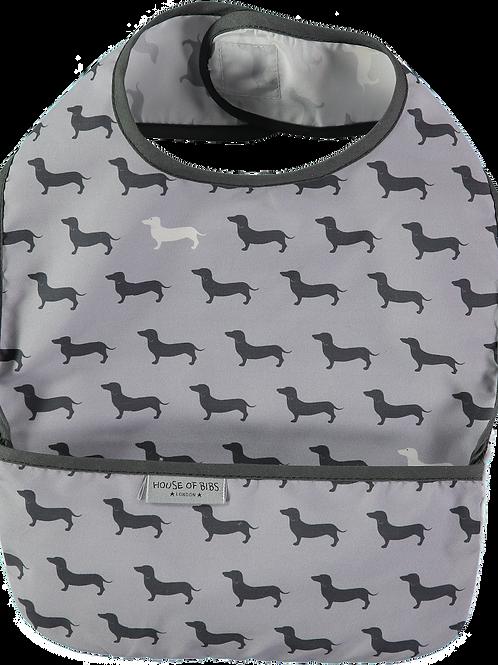 Black & Grey Dogs Toddler Bib
