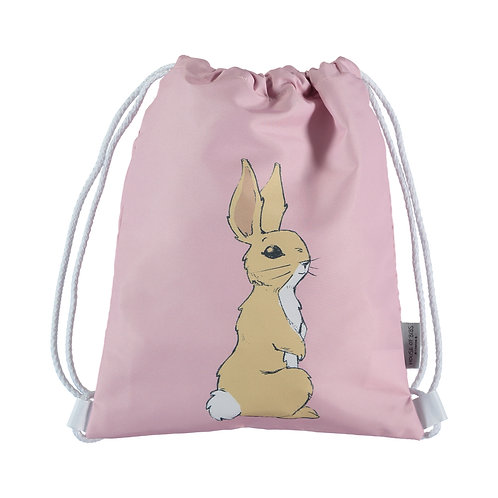 Bunny on Dusty Rose Toddler Drawstring Backpack