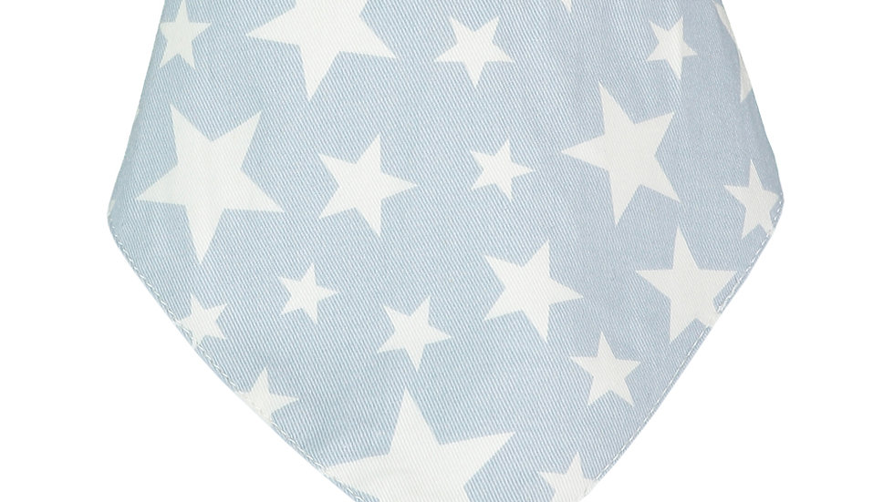 Light Blue Cowboy Bandana Bib