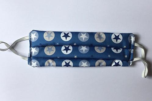 Mascarilla Estrellas & Circulos Azul Marino