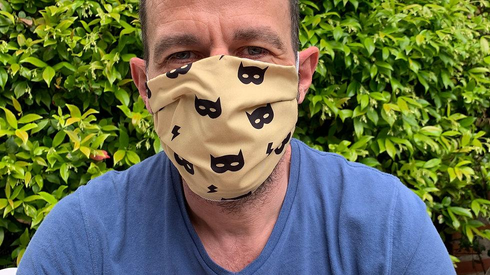 Superhero Golden Yellow Face Mask