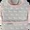 Thumbnail: Pink & Grey Dogs Toddler Bib