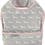 Thumbnail: Babero Impermeable Dachshund rosa y blancos fondo grisobre Gris