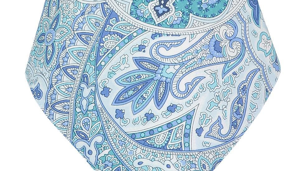 Oriental Blue Bandana Bib