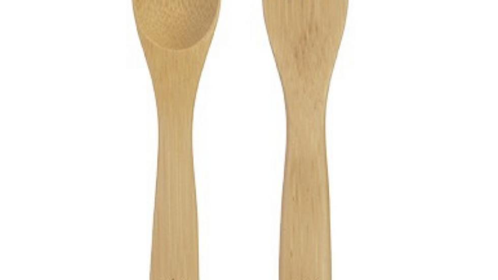 Tenedor & Cuchara de Bambú