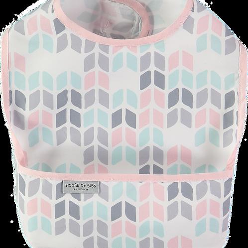 Pink & Grey Geometric Toddler Bib