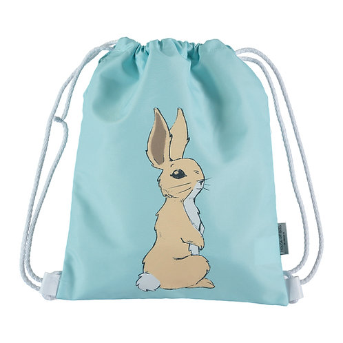 Bunny on Sky Blue Toddler Drawstring Backpack