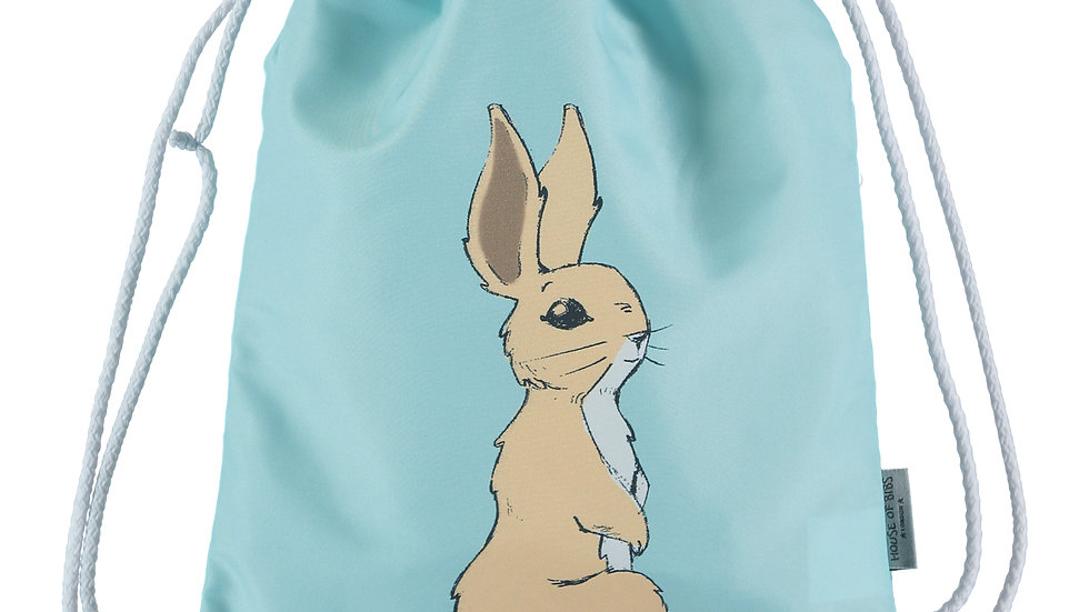 Bunny on Sky Blue Toddler Drawstring Backpack