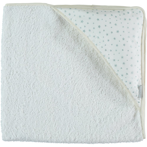 Glitter Green Stars Hooded Towel