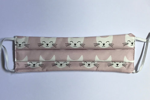 Cats on Light Pink Face Mask