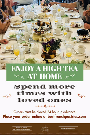 You can Enjoy Our Hightea at Home