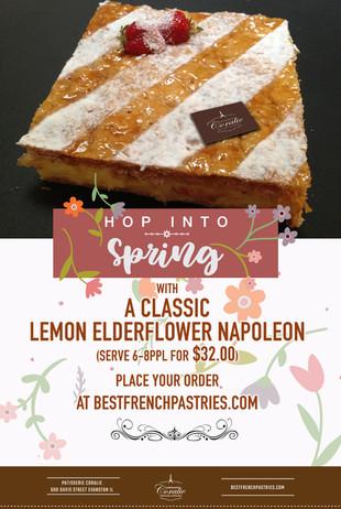 Order Our Classic Lemon Elderflower Napoleon