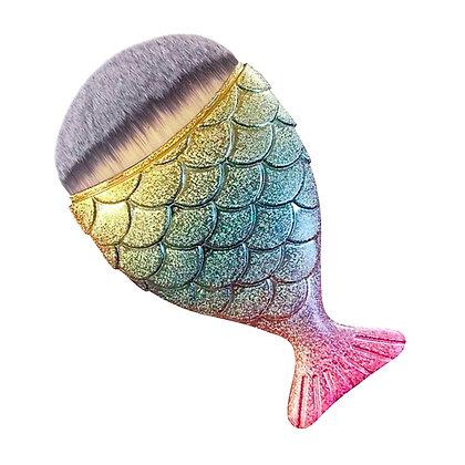 Mermaid tail brush