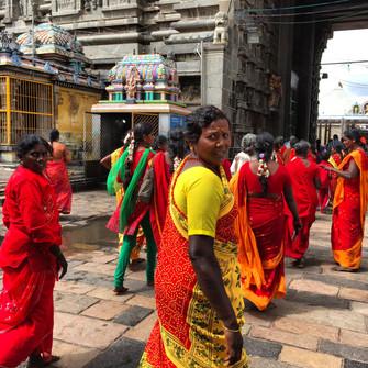 Temple devotees