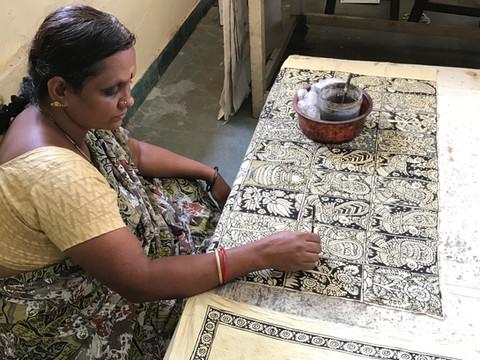 Kalamkari, hand painted textiles