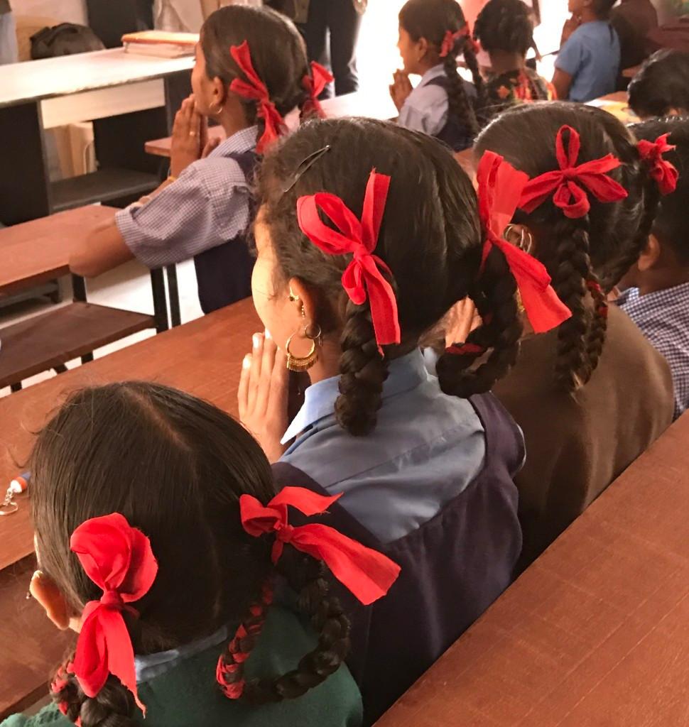 School girls in Meghwal village