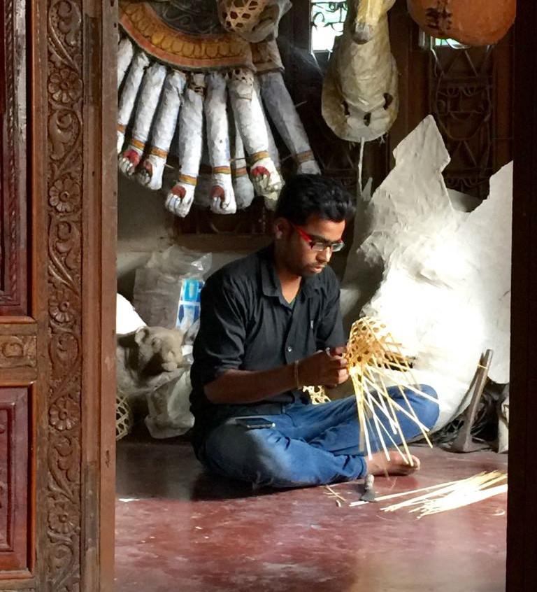 "Mask making on Majuli at ""satra"" 11th century monastery"