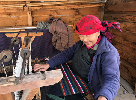 Bhutanese baby yak wool weaving