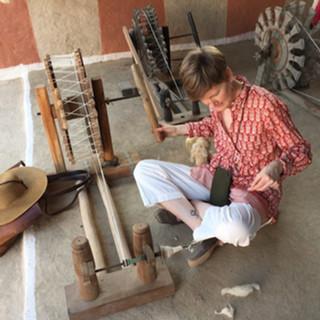Charkha weaving