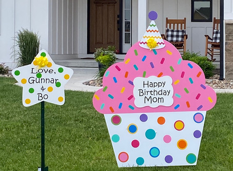 For the mom who has everything...send an oversized cupcake with love!