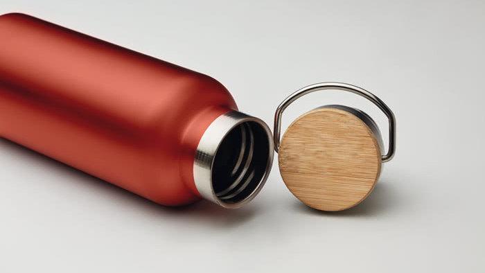 CLIP Borraccia termica in alluminio 500 ml, Tappo alluminio