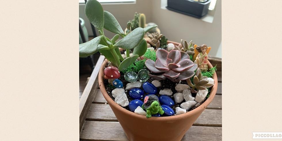 Hearty Leaf's Fairy Garden Succulent Workshop (Sunday, 4/19)