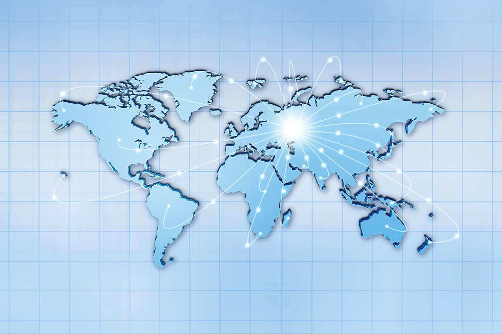 Global traffic and comminications concep
