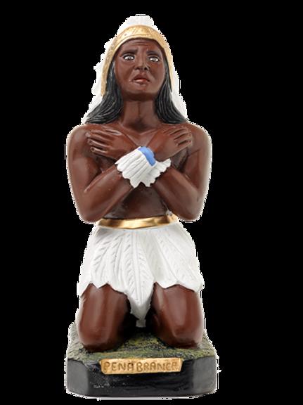 Caboclo Pena Branca (ajoelhado) -  40 cm