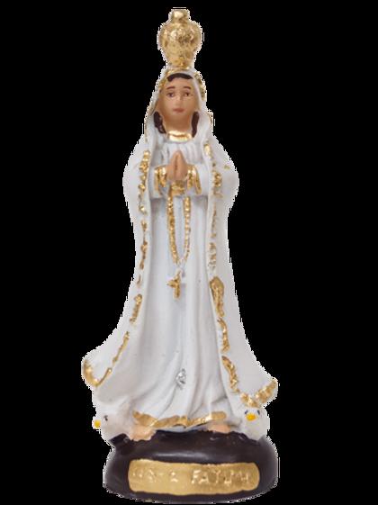 Nossa Senhora de Fátima (resina) - 10 cm