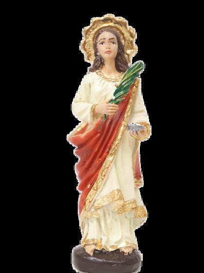 Santa Luzia (resina) - 10 cm