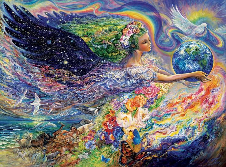 Nas Ondas Espirituais do Amor da Mãe Divina.