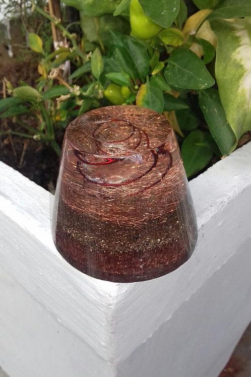Orgonite Cup Cake Cobre
