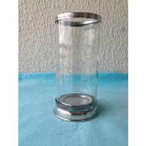 Castiçal Vela 7 Dias - Vidro c/ Base Alumínio