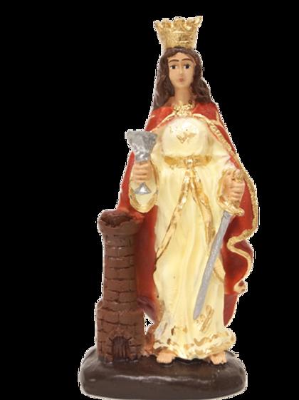 Santa Bárbara (resina) - 10 cm