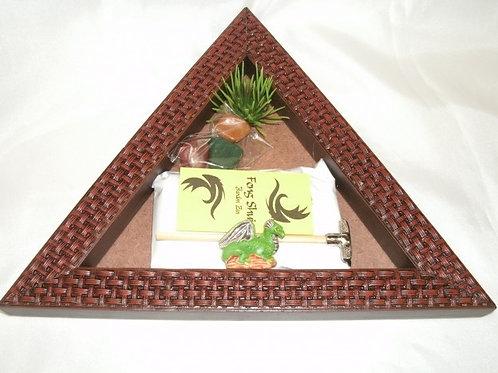 Jardim Zen Triangulo Trabalhado (M) Tabaco