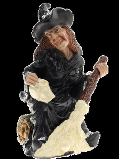 Bruxa com Caveira - 15cm