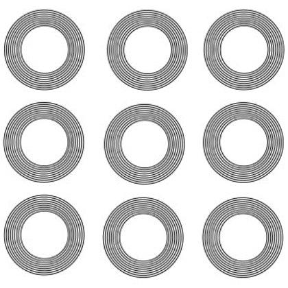 Adesivo 9 Circulos (Vários Tamanhos)