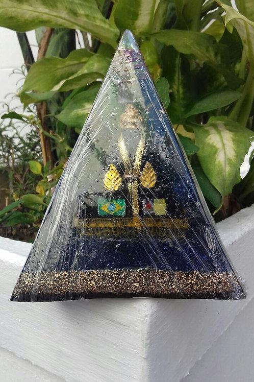 Orgonite Pirâmide N. S. Aparecida (Grande)