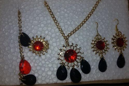 Conjunto Pombogira Vermelho e Preto