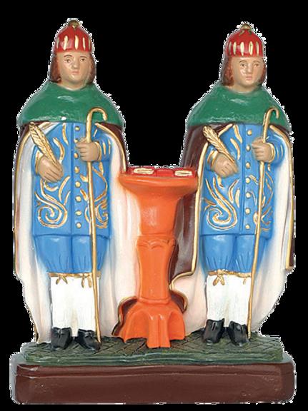 Cosme e Damião (manto verde) - 20 cm