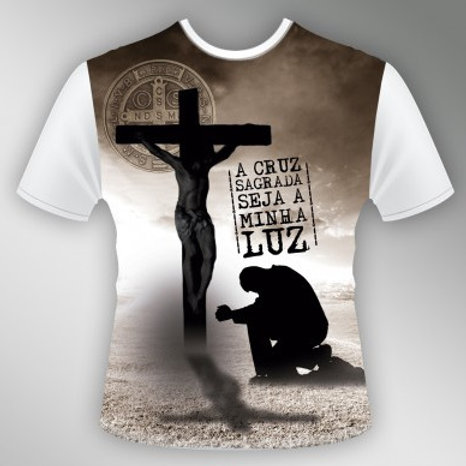 Camiseta Aos Pés da Cruz - Unissex
