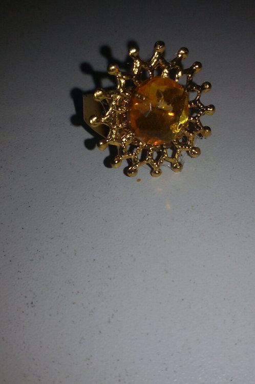 Anel de Oxum com Pedra Amarela
